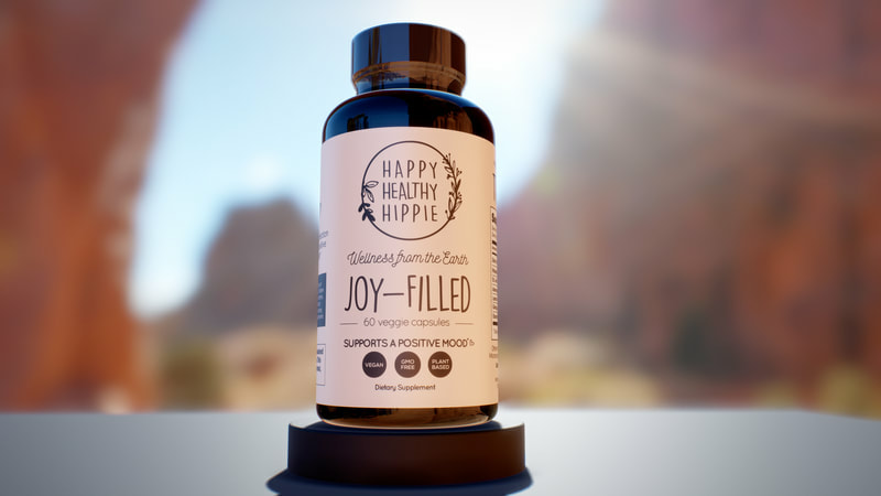 Joy filled environment bottle mockup
